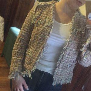 Zara Chanel style jacket XS